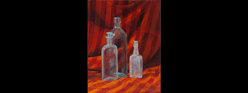 Bottles and Red Drape slider